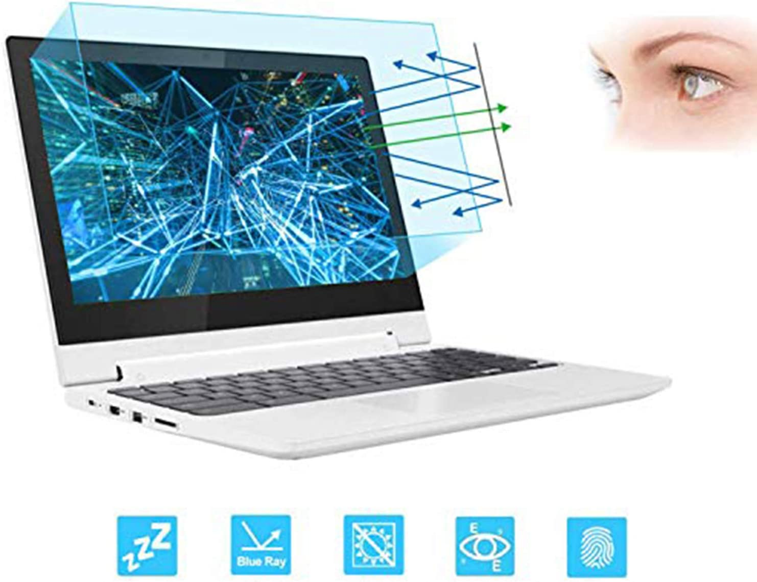 "11.6"" Laptop Screen Protector -Blue Light Filter, Eye Protection Blue Light Blocking Anti Glare Screen Protector for All 11.6"" 16:9 Laptop (!!!Not Include The Screen Bezel)"