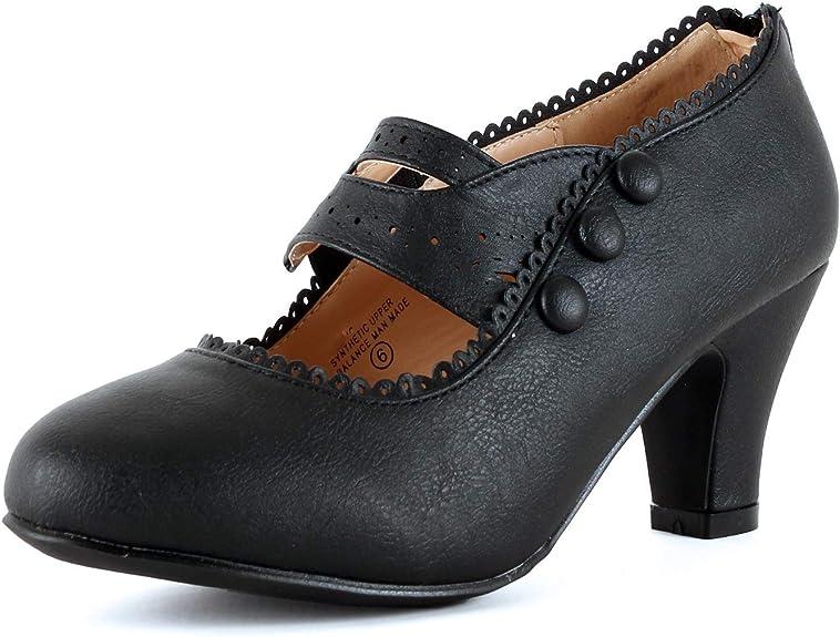 Mary Jane oxford pump heels