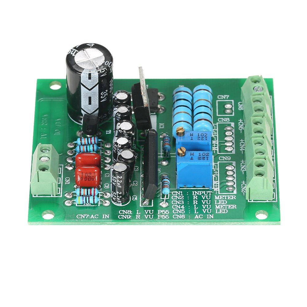 Kkmoon Ac 12 V Stereo Vu Meter Treiberplatine Verstrker Db Audio 1 Level Modul Baumarkt