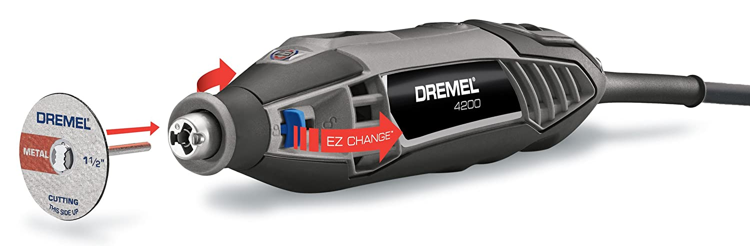 Dremel 4200-4 36 High Performance Rotary Tool Kit with EZ Change, 4-Attachments and 36-Accessories