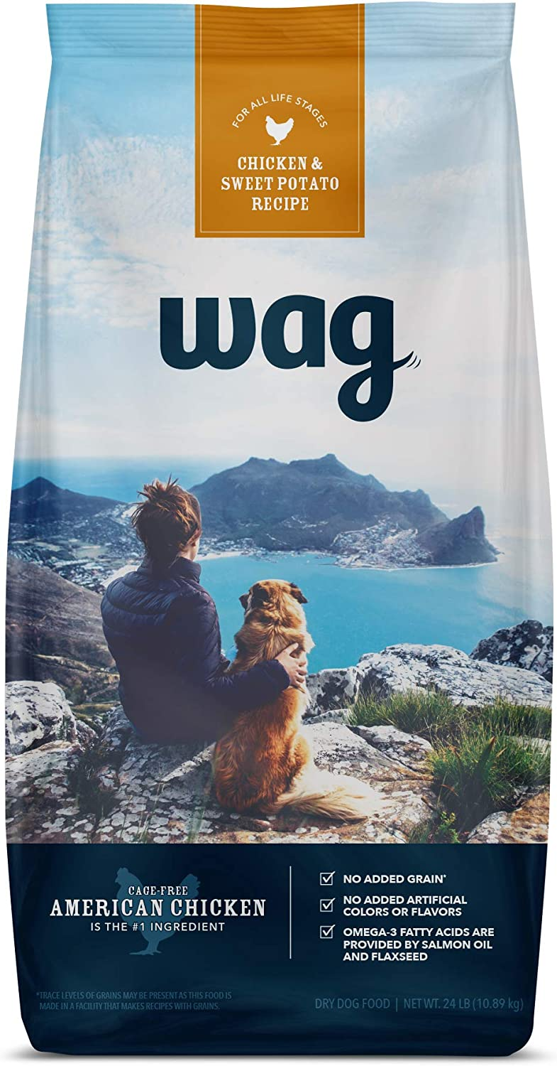 Amazon Brand - Wag Dry Dog Food, No Added Grains (Beef, Chicken, Salmon & Sweet Potatoes)
