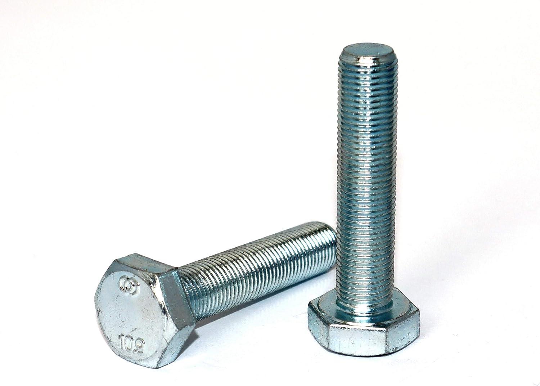 Sechskantschraube M8x1,0x25 DIN 961 St/ückzahl 10 Feingewinde Stahl galvanisch verzinkt 10.9 Gewinde bis zum Kopf