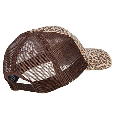 865e4a93 Low Profile Canvas Leopard Print Mesh Trucker Cap, Brown at Amazon Women's  Clothing store: Baseball Caps