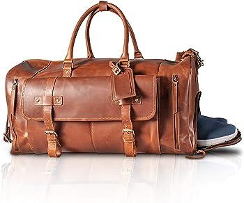 KomalC Durable Leather Luggage