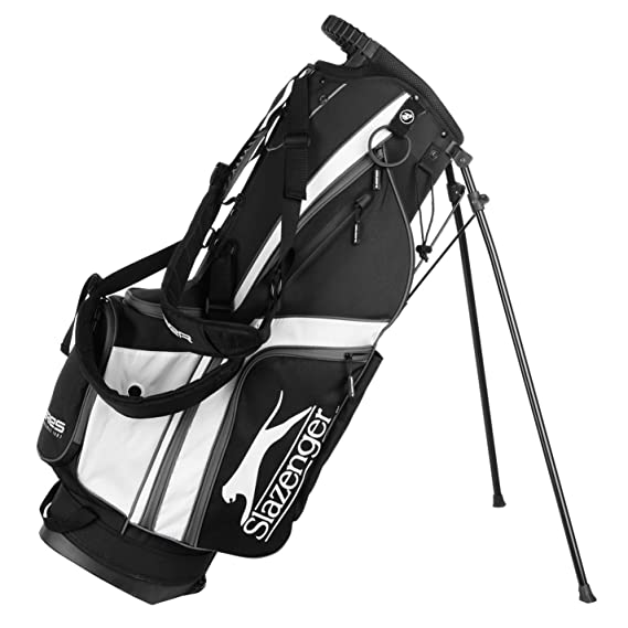 c69cfdc94d Slazenger Unisex Lite Stand Bag Black/White One Size: Amazon.co.uk: Clothing
