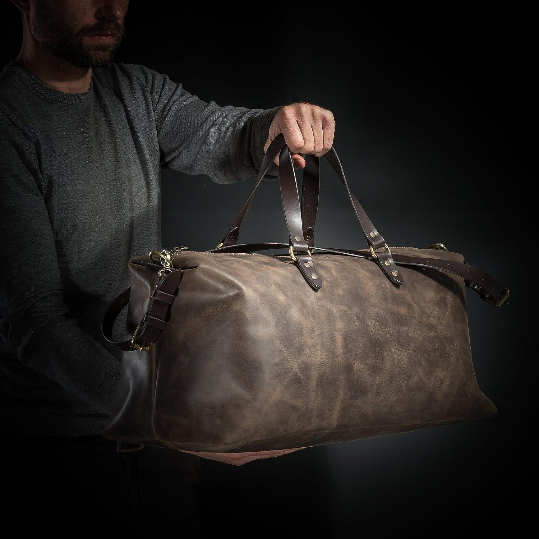 Leather Travel Bag by Kruk Garage Duffel bag Weekender bag Holiday bag Flight cabin bag Gym bag Overnight bag Large bag Mens bag Sport bag