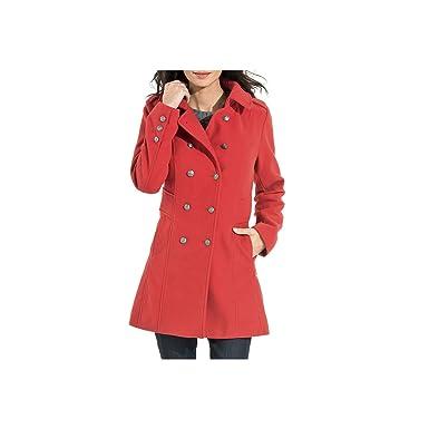 Caban marin femme rouge