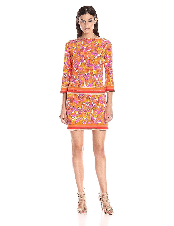Trina Turk Women's Roccio Scallop Matte Jersey Dress Multi 8 [並行輸入品] B075CHFTHN