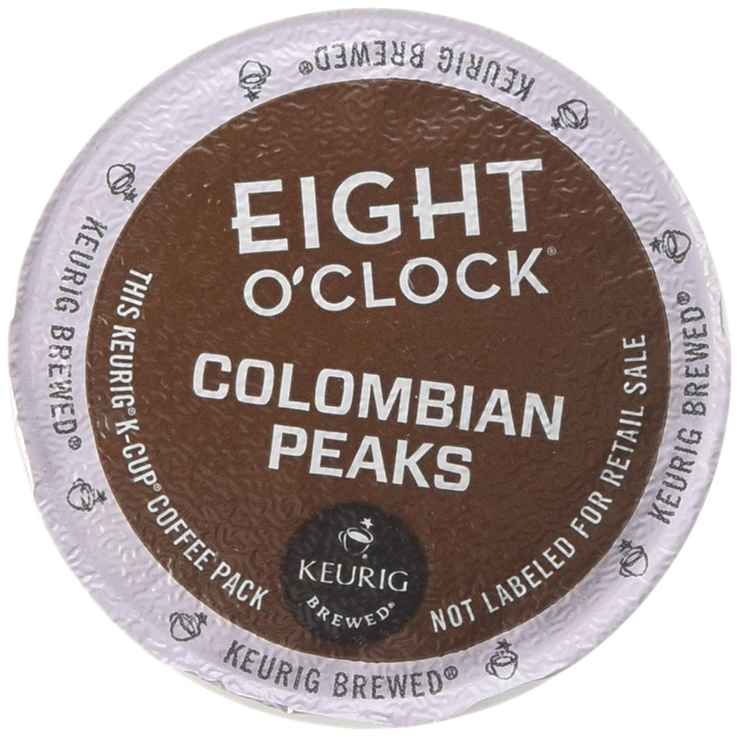 Eight O'Clock Colombian Peaks Medium Roast Coffee K-Cup Packs - 18 CT