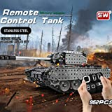 Docooler RC Battle Tank Car Building Blocks Educational Toys Stainless Steel Remote Control RC Toy Gift for Kids Boys…