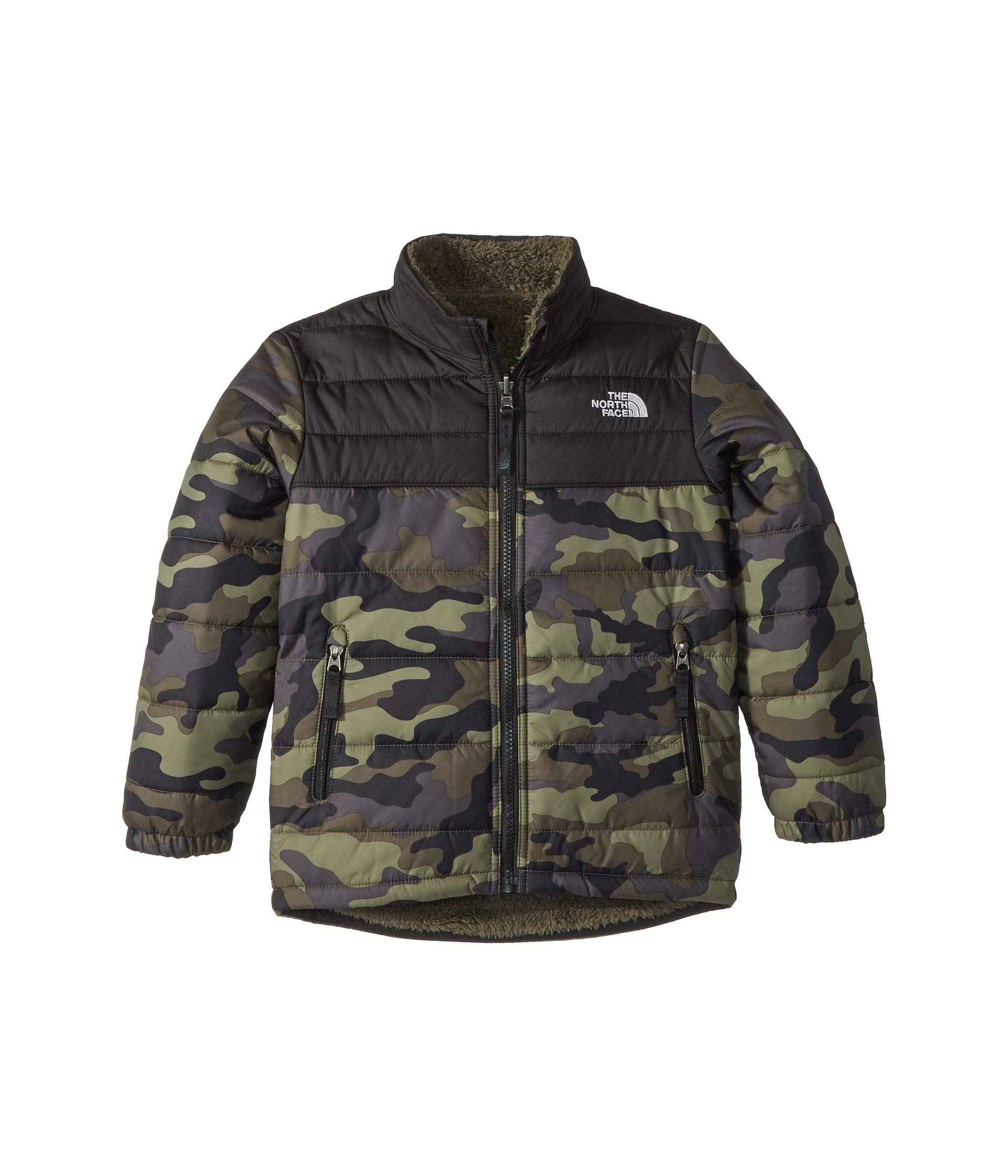 The North Face Kids Boy's Reversible Mount Chimborazo Jacket (Little Kids/Big Kids) New Taupe Green Large