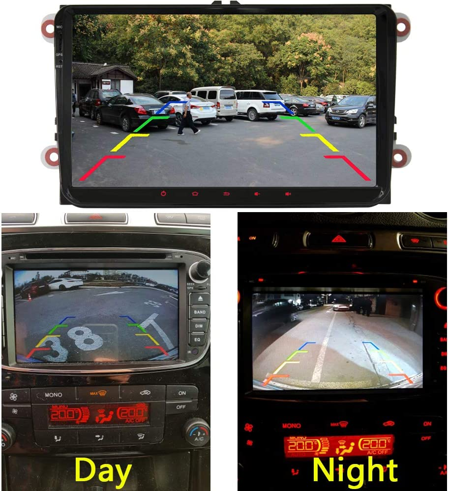 aSATAH 12 LED Car Rear View Camera for Ford Mondeo MK2 MK3 12 LED Ford Fusion//Ford Fiesta ST//Classic//Ikon//Flex//Taurus /&Waterproof and Shockproof Reversing Backup Camera