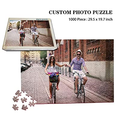 Custom Photo Jigsaw Puzzle 1000 Pieces,Personalized Jigsaw Puzzle Family Photo Wedding Photos for Adults Kids: Arts, Crafts & Sewing [5Bkhe0300006]