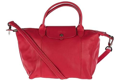 75add7ea86d9c Longchamp bolso de mano para compras en piel mujer nuevo rojo  Amazon.es   Zapatos y complementos