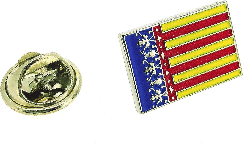 Pin de Solapa de la Bandera de la Comunidad Valenciana: Amazon.es: Ropa y accesorios