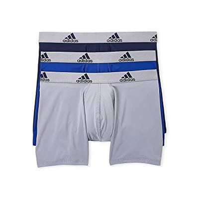 adidas Mens 3 Pack Climalite Performance Boxer Briefs, Collegiate Royal/Grey/Collegiate Navy, S: Sports & Outdoors
