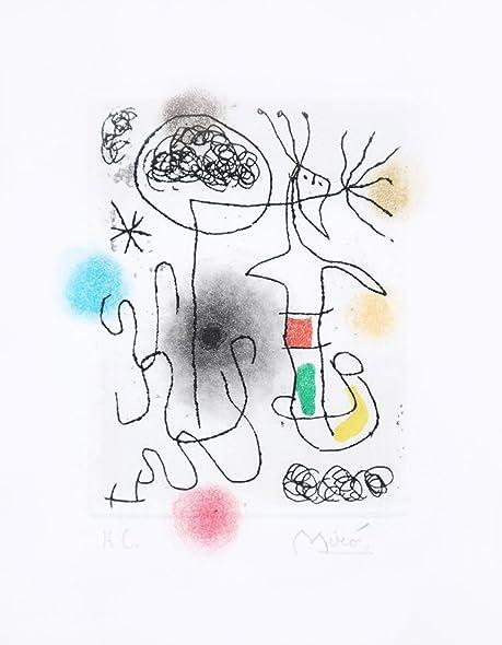 Amazon.com: Midi le trèfle blanc: Joan Miro: Fine Art
