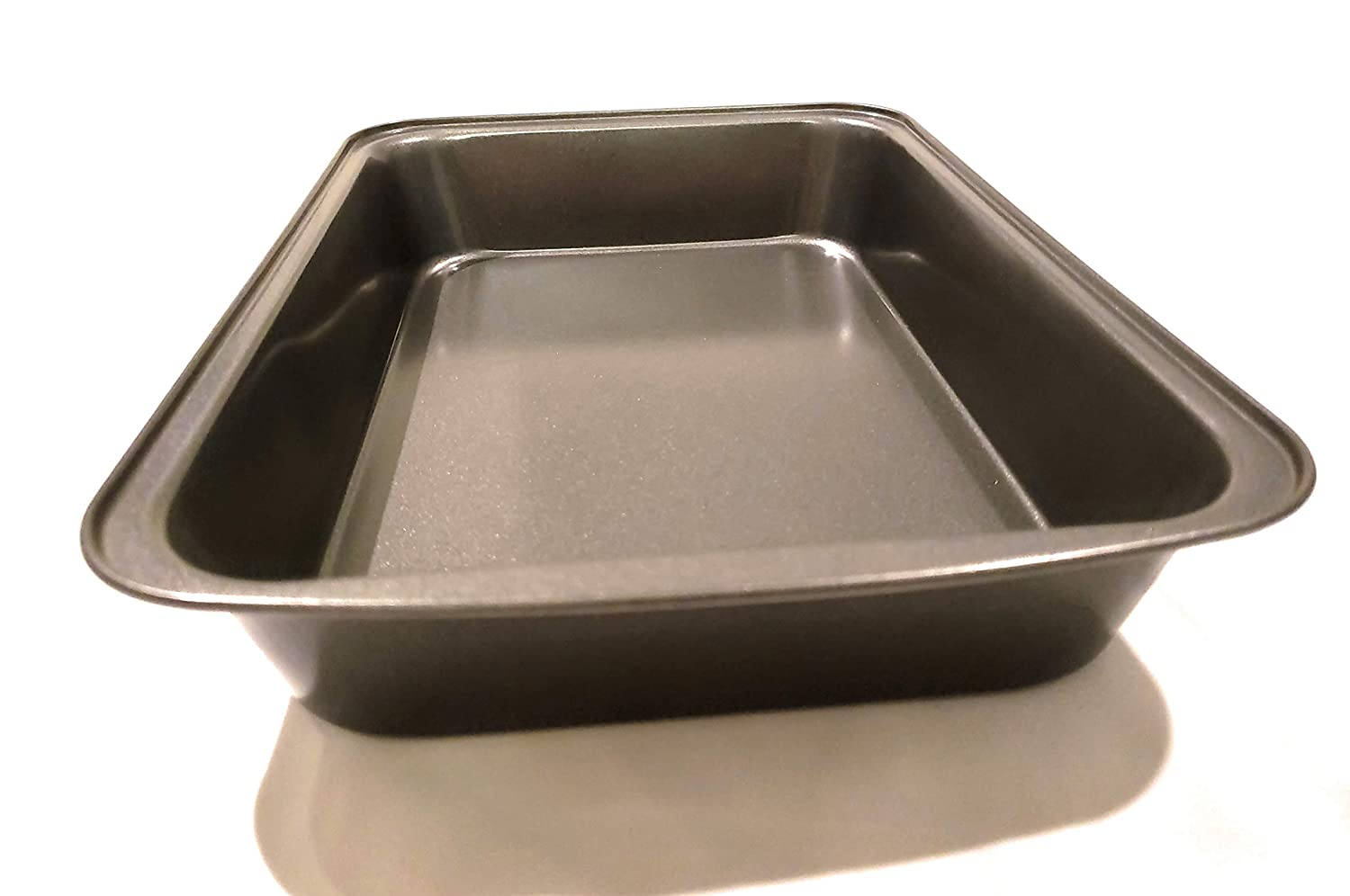 April Supply 9 inch by 14 inch Detroit Style Deep Dish Square Pizza Pan with Sauce Ladle Sicilian Rectangular Bake Dish with Stainless Steel Ladle