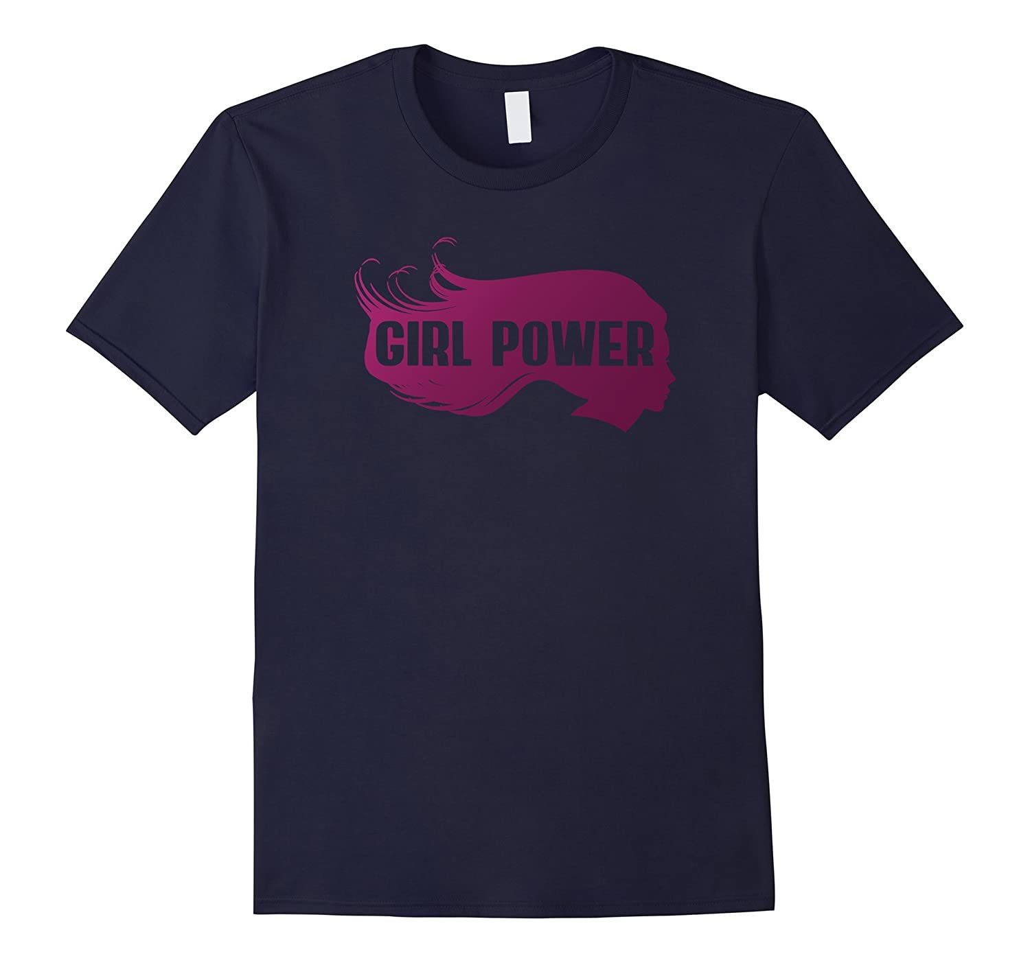 Girl Power T-Shirt Rose GRL PWR T-Shirt Feminist Movement-CD