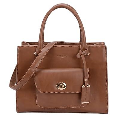 3e41ba12371e DAVID - JONES INTERNATIONAL Women's Synthetic Leather Zip Tote Shoulder Bag