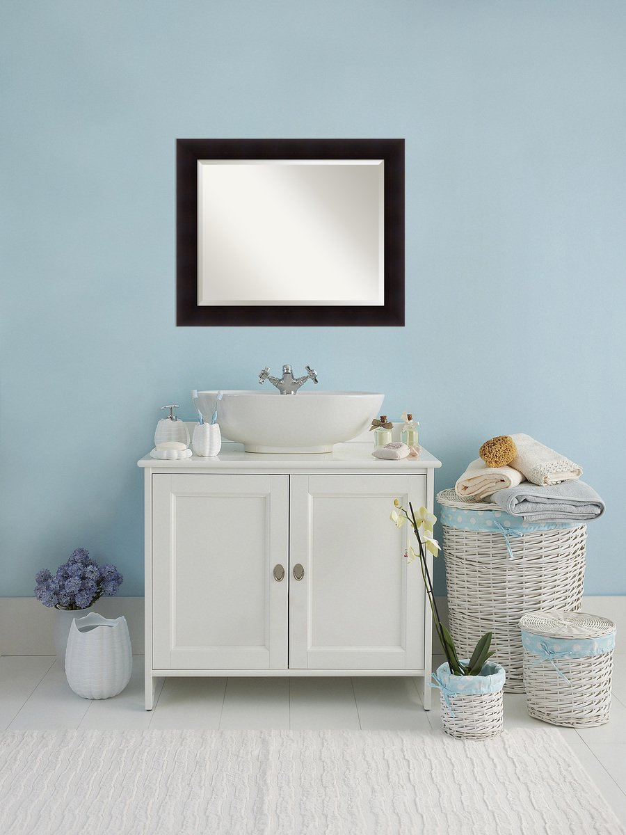 Amazon.com: Bathroom Mirror Large, Portico Espresso: Outer Size 34 x ...