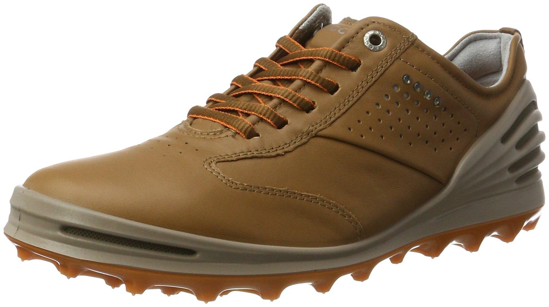 ECCO Men's CAGE PRO Golf Shoe, Camel, 40 EU/6-6.5 M US