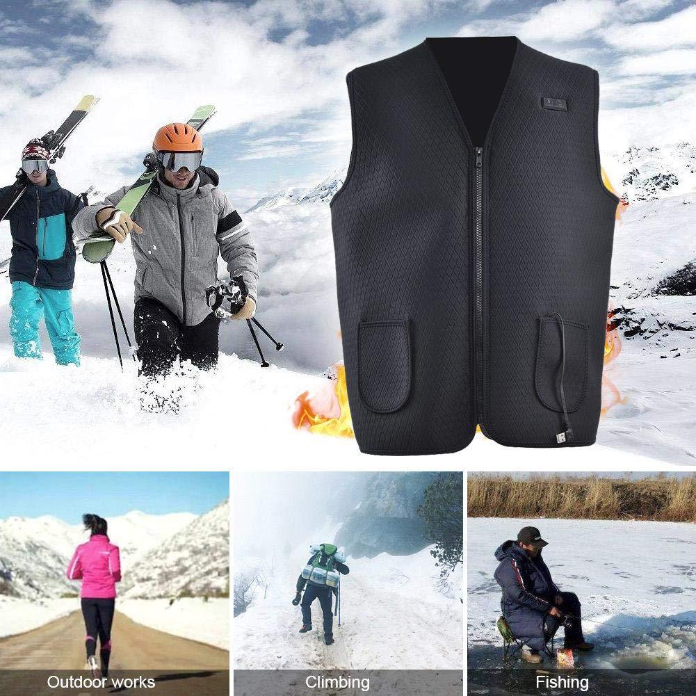giacche riscaldati regolabili per gli uomini riscaldata Gilet Intelligent Dual Control gilet riscaldato Slim e Comfort per escursione di campeggio esterna Riscaldamento elettrico Vest ricarica USB