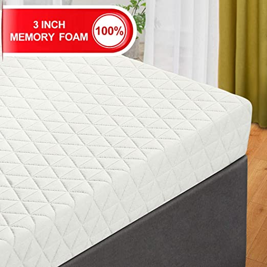 Amazon Com Emonia 3 Inch Memory Foam Mattress Topper Queen Size