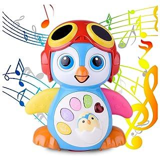 Giocattoli per bambini Early Education Giocattoli Musicali per Bambini Lovely Swing Penguin con EQ Intelligence Training, Musica e apprendimento, Walking, Luci Lampeggianti, Voice Answers 6 Mesi +