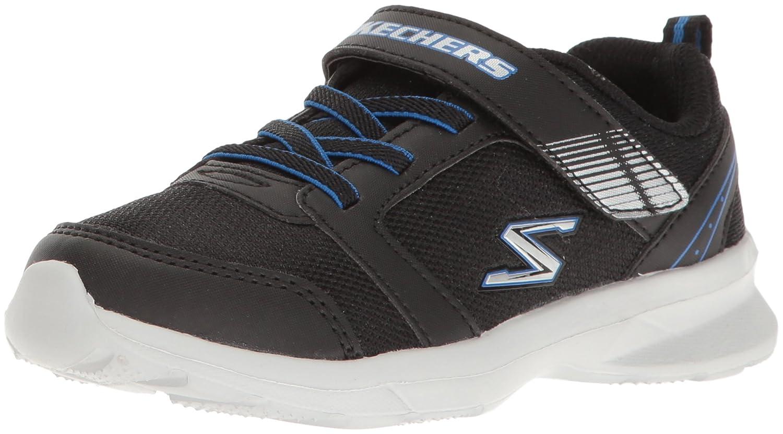 Skechers Skech-Stepz Coole Jungen Mesh Sneakers Black, Laufsohle, Fuszlig;bett, 3040112/20  28 EU|Schwarz