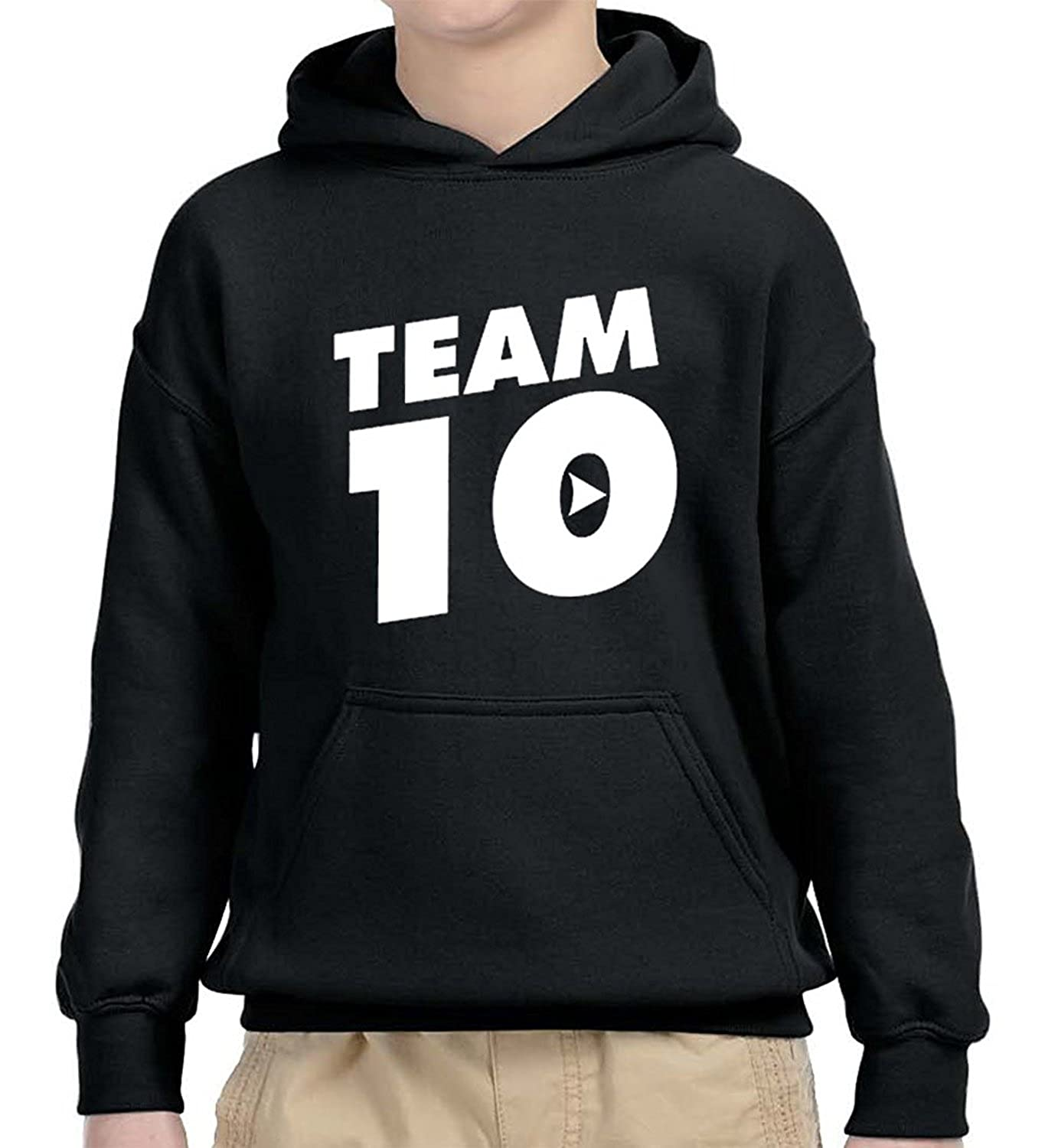 Hussain Tees Youth Team 10 Logan Paul and Jake Paul Kids Sweatshirt Hoodie