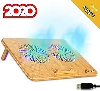 KLIM™ Bamboo - Base refrigerante para portátil: Amazon.es: Electrónica