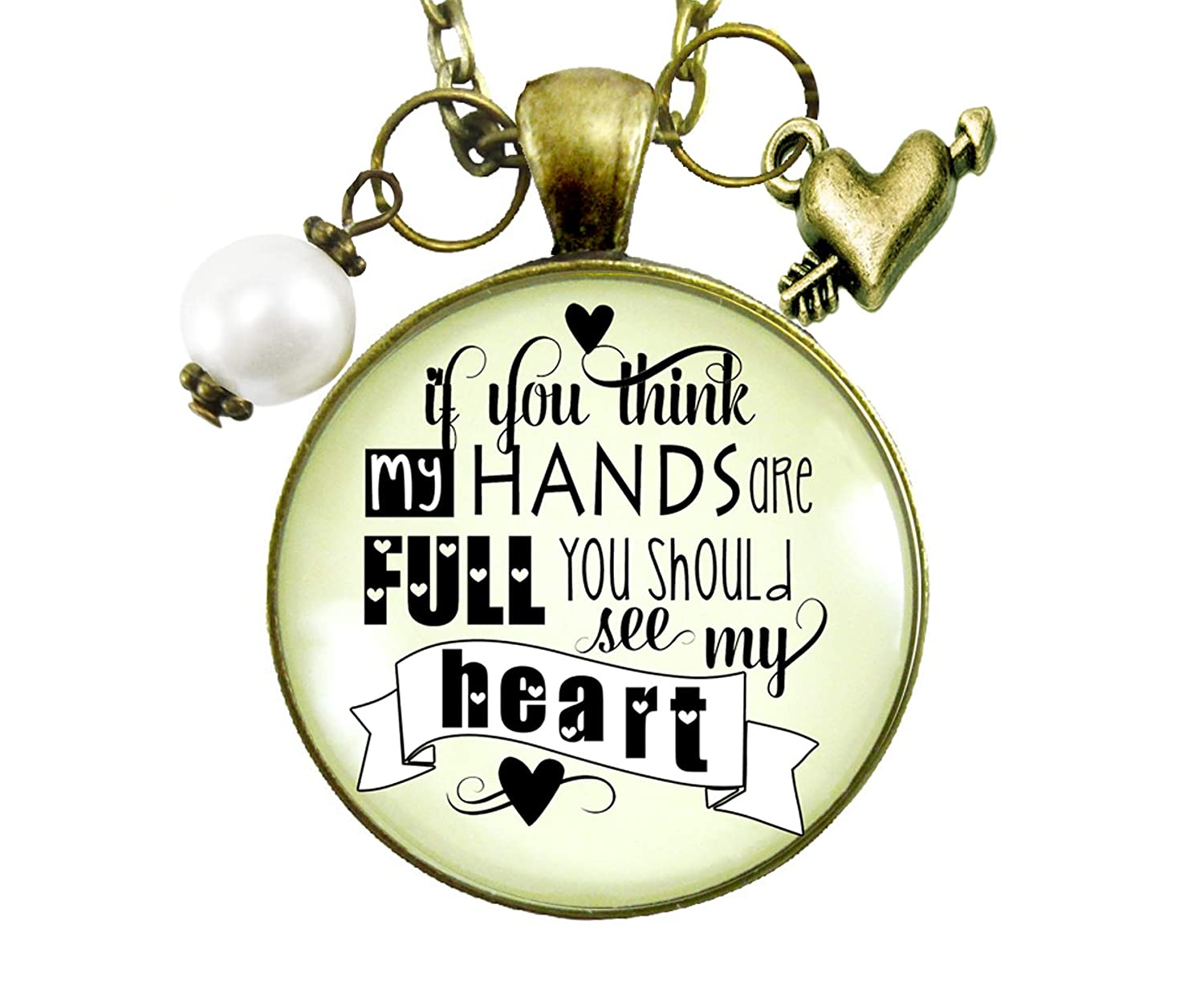 Amazon.com: Full Heart Necklace If You Think My Hands Are ...