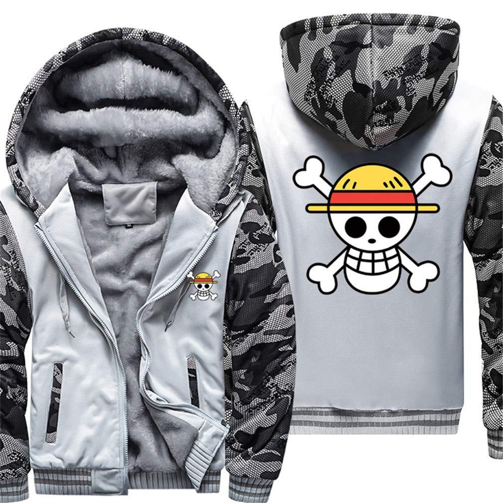 ... Cosstars One Piece Cosplay Anime Hoodie Felpe con Cappuccio Unisex  Cosplay Piece Inverno Caldo Maglione Cappotto 6ff79679751