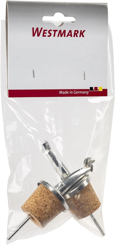 2/Unidades /Gastro Corcho//lat/ón 6,7/x 3,2/x 2,5/cm Westmark 43702280/Boquilla Classic/