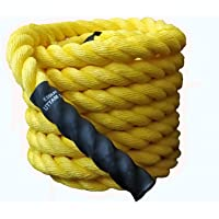 "ESSKAY UTTAM Gym Exercise Rope (1.5 "" Thick / 50 Feet Exercise Rope) Battle Rope;Battle Rope"