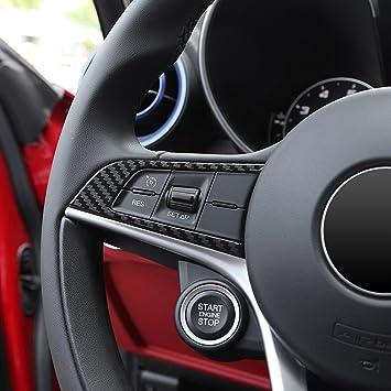 2 X Lenkradverkleidung Aus Abs Kunststoff Karbonfaser Für Giulia Stelvio Auto