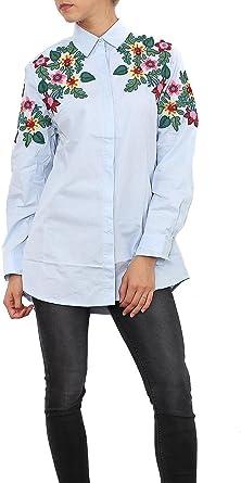 Lemontree Lemon Tree Camisa de Mujer Dama Bordado Flores ...