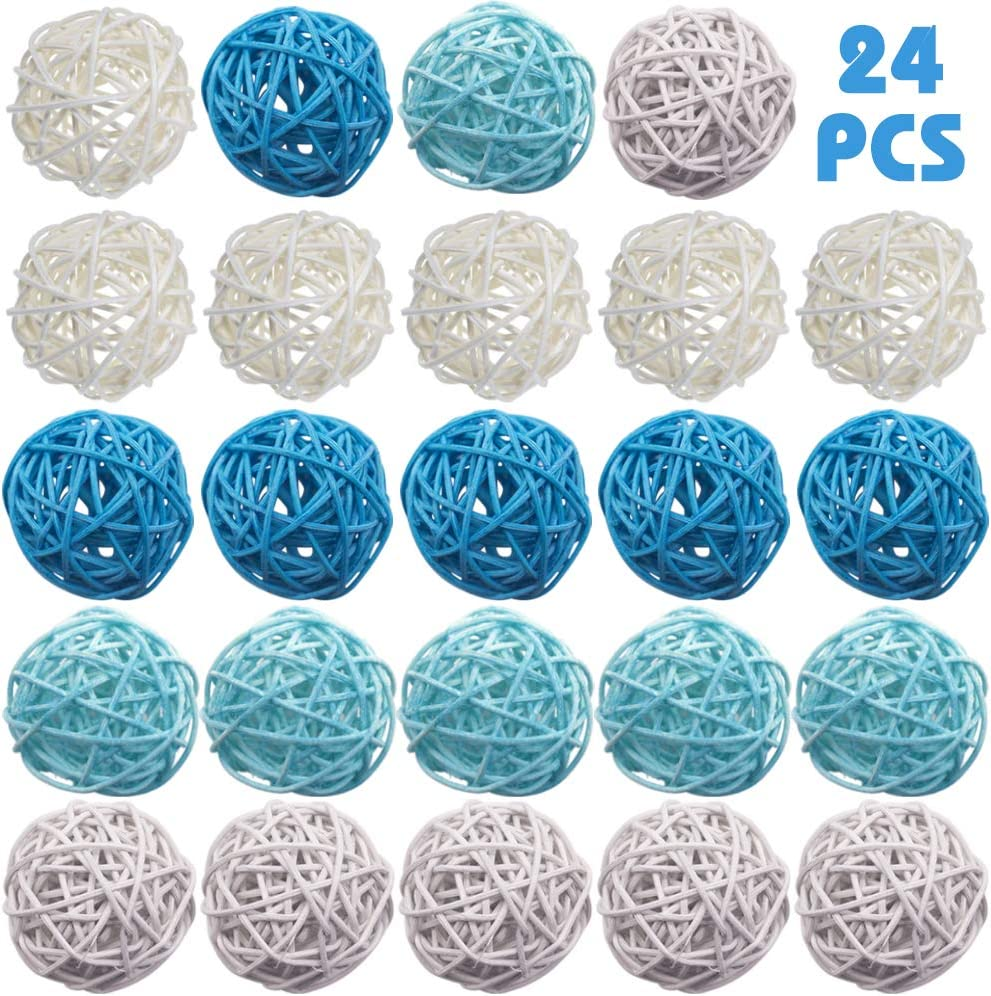 DomeStar Rattan Ball, 24PCS Orbs Vase Fillers