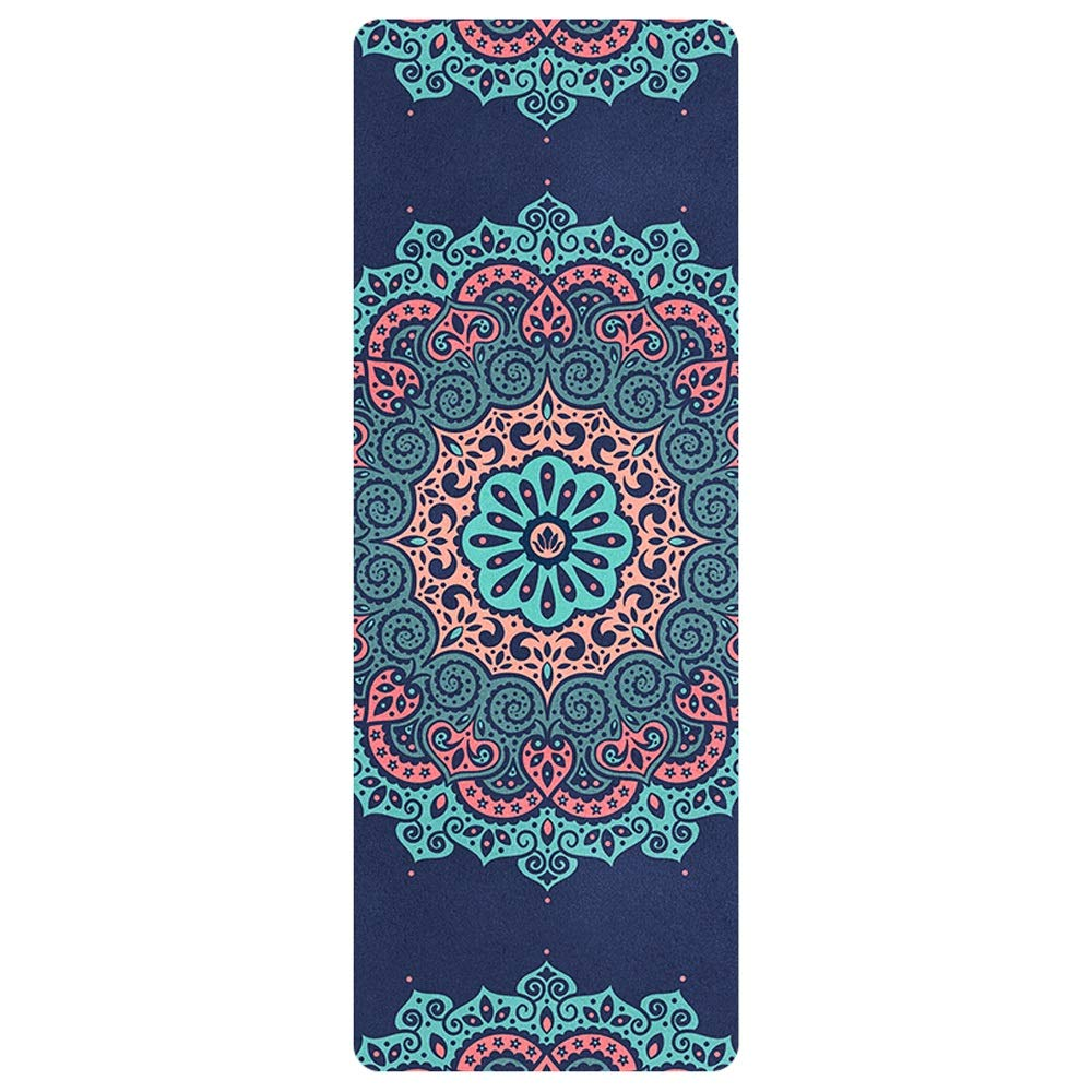 Fitness Mat With,Pro Yoga Mats Extra Long Eco Friendly Non Slip Fitness Mat Exercise Mat Workout Mat For Pilates And Yoga With Body Alignment System,185 Cm X 68 Cm Thickness 1.5 MM ( Color : Style 1 )
