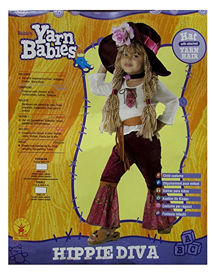 Rubies Toddlers Hippie Diva Halloween Costume, Maroon/White, 2T-4T