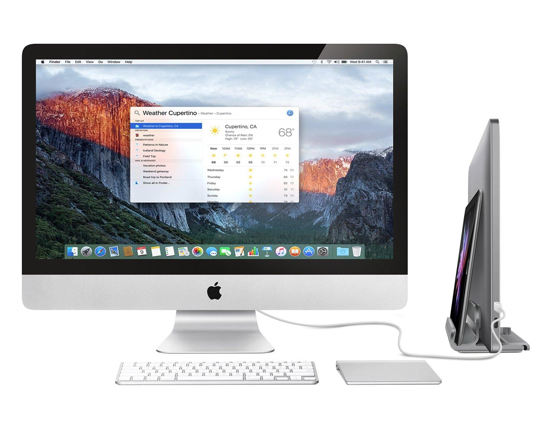 Bestand 2 en 1 Soporte Vertical Portátil para MacBook y iPad/iPhone, Soporte Portátil Ajustable para Acomodar Portátiles de Distintos Grosores(Gris): ...