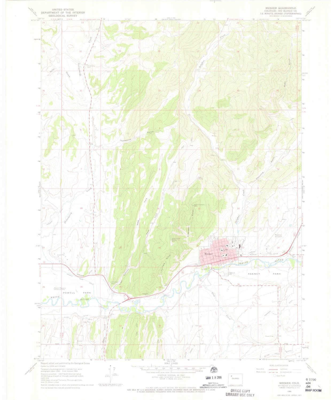 Amazon Com Yellowmaps Meeker Co Topo Map 1 24000 Scale