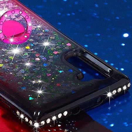 FAWUMAN Funda Samsung Galaxy Note 10 con Anillo Soportee,Silicona Purpurina Carcasa,Transparente Antichoque Cristal Bumper Telefono Fundas Case Cover: Amazon.es: Electrónica