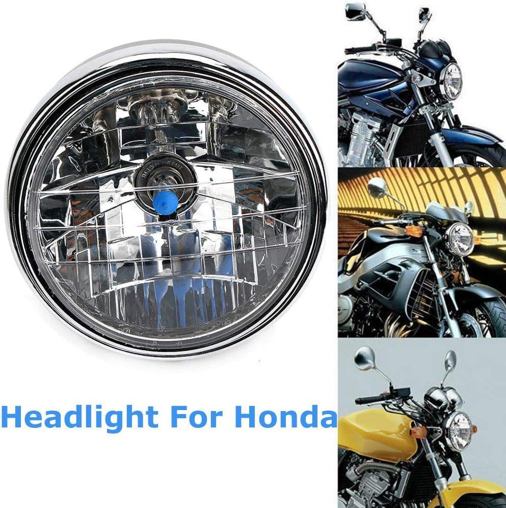 Monland Phare de Moto pour Cb400 Cb500 Cb1300 Hornet 250 600 900 VTEC Vtr250 Lumi/ère de Course