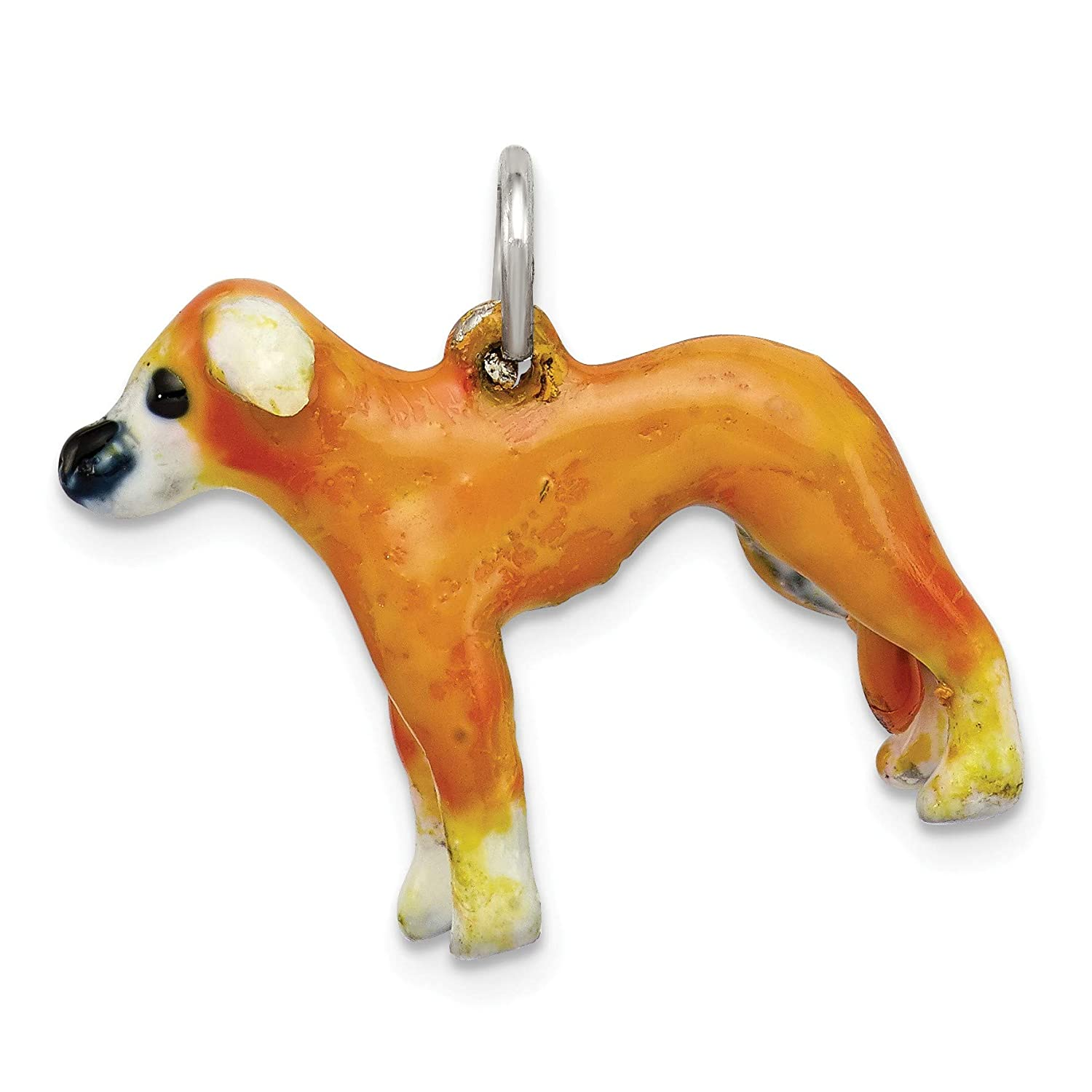 Bonyak Jewelry Sterling Silver Enameled Whippet Charm