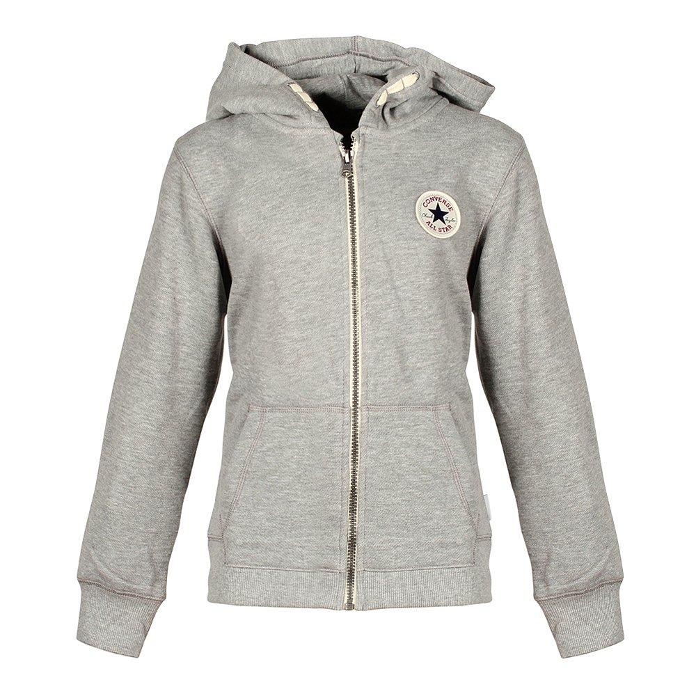 Converse Grau Hoodie Kinder Sweatshirt Kapuzenpullover, Größe Kleidung Kinder:L (152-158 cm) 966367-042 All Star grau