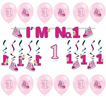 MAYF - Living Deko para Niña Cumpleaños 1 Año Decorar Set ...