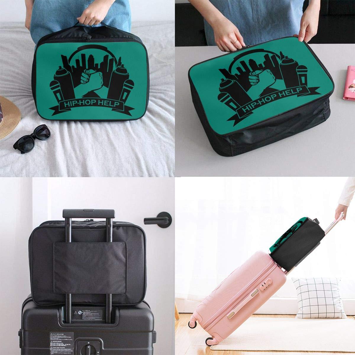 Travel Luggage Duffle Bag Lightweight Portable Handbag Hip Hop Dance Large Capacity Waterproof Foldable Storage Tote