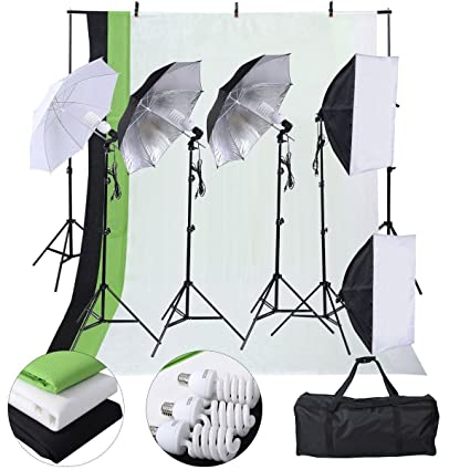 Safstar Photography Lighting Kits for Beginners Includes Chromakey Studio Background Stand 3 x Backdrops  sc 1 st  Amazon.com & Amazon.com : Safstar Photography Lighting Kits for Beginners ...